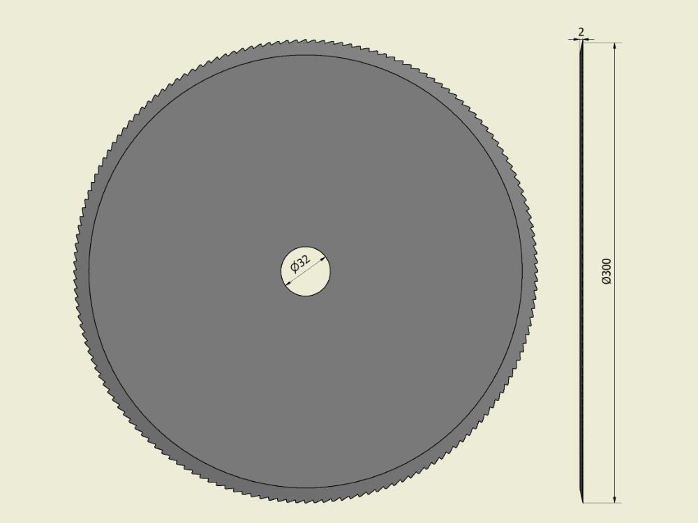Cirkelmes 300x32x2 (fase links)