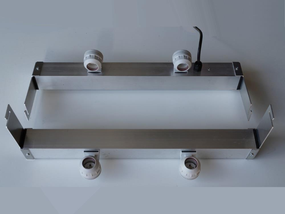 Adapter voor 2 buizen tbv AGRO LED