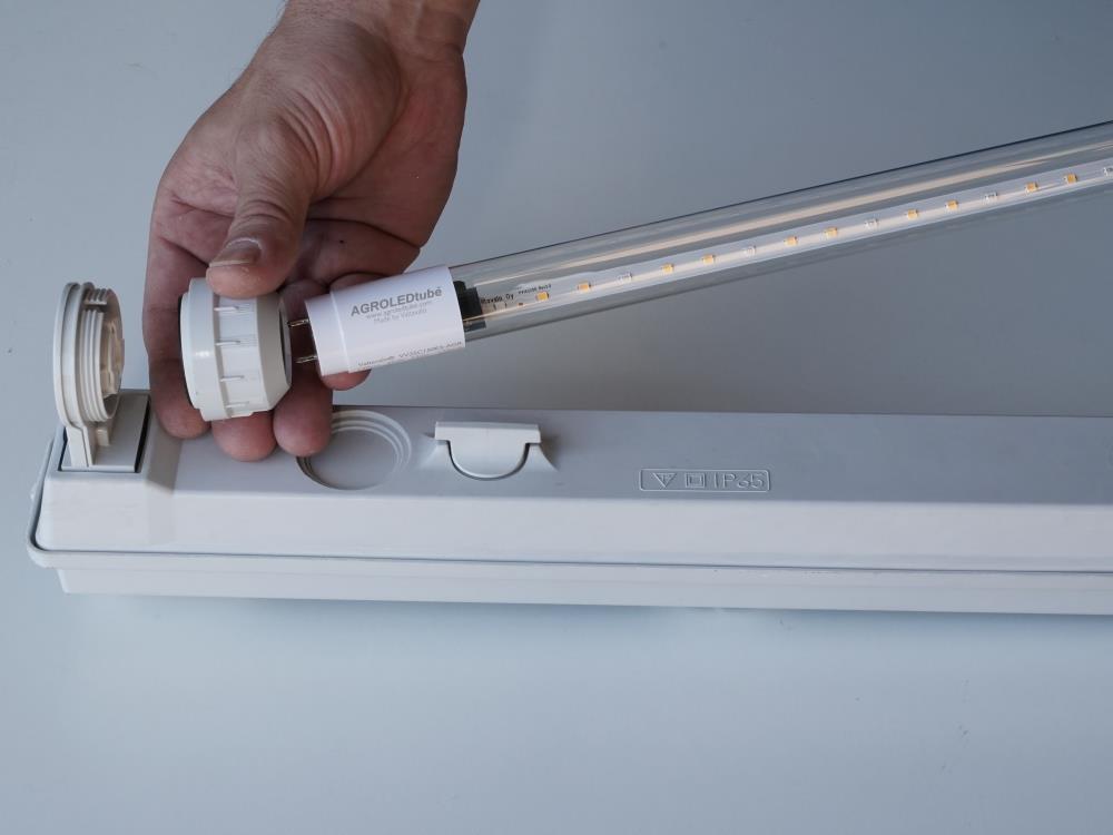 Armatuur DFA met 2 lampen 1500mm tbv AGRO LED