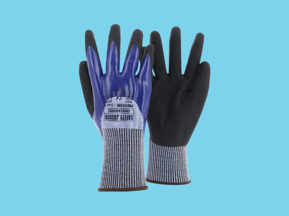 Handschoen Protector grijs/blauw 9