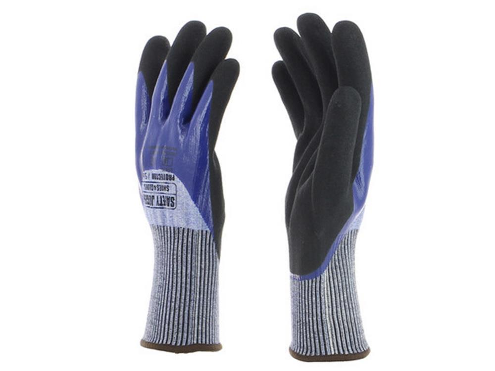 Handschoen Protector grijs/blauw 10