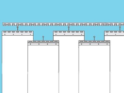 PVC strook (gordijn) 300x3mm helder per 50 mtr