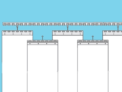 Klemprofiel stroken RVS 300mm inhaaksysteem (inc. popnagels)