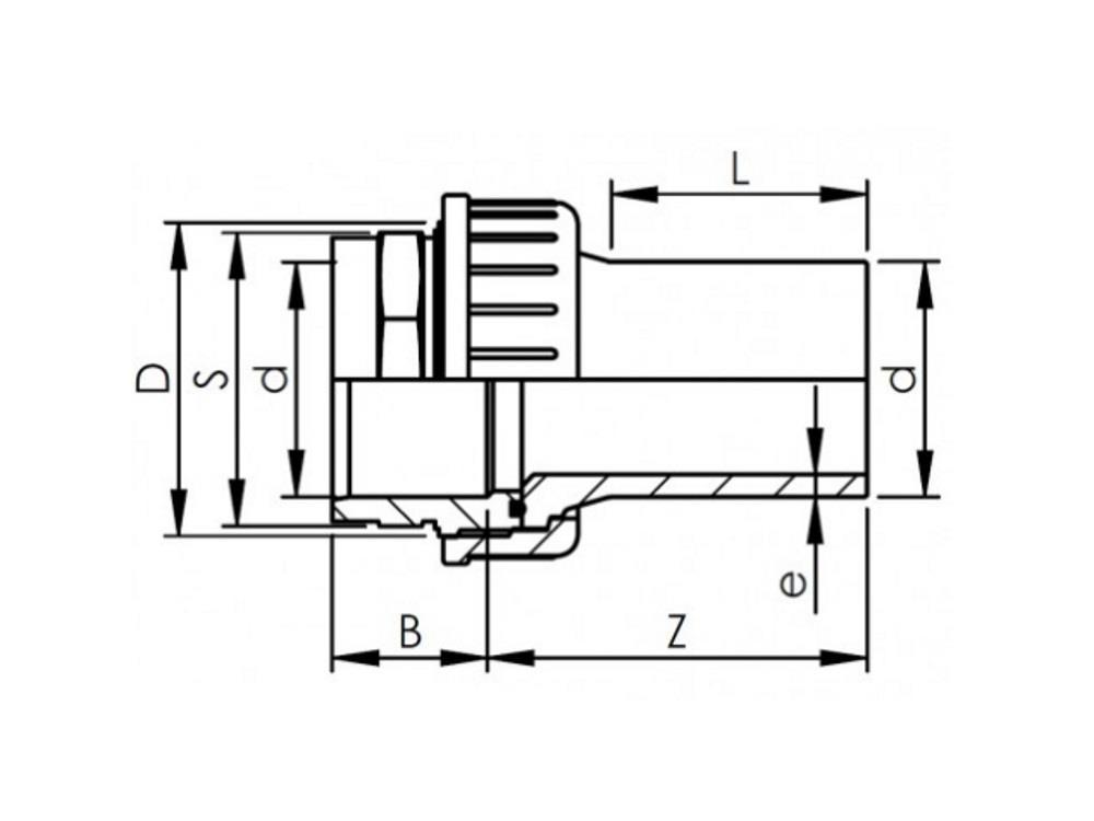 Overgangskoppeling pvc-pe 63mm - sdr 11
