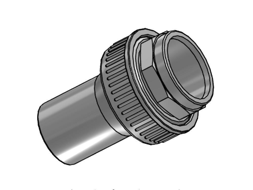 Overgangskoppeling pvc-pe 75mm - sdr 11