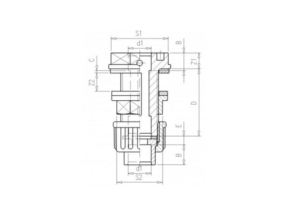 Tankdoorvoer + koppeling 16mm x 3/4