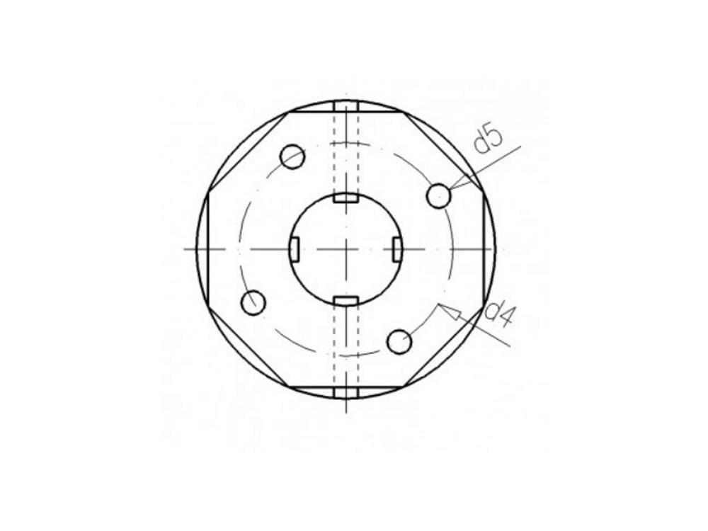 Tankdoorvoer + koppeling 63mm x 2 3/4