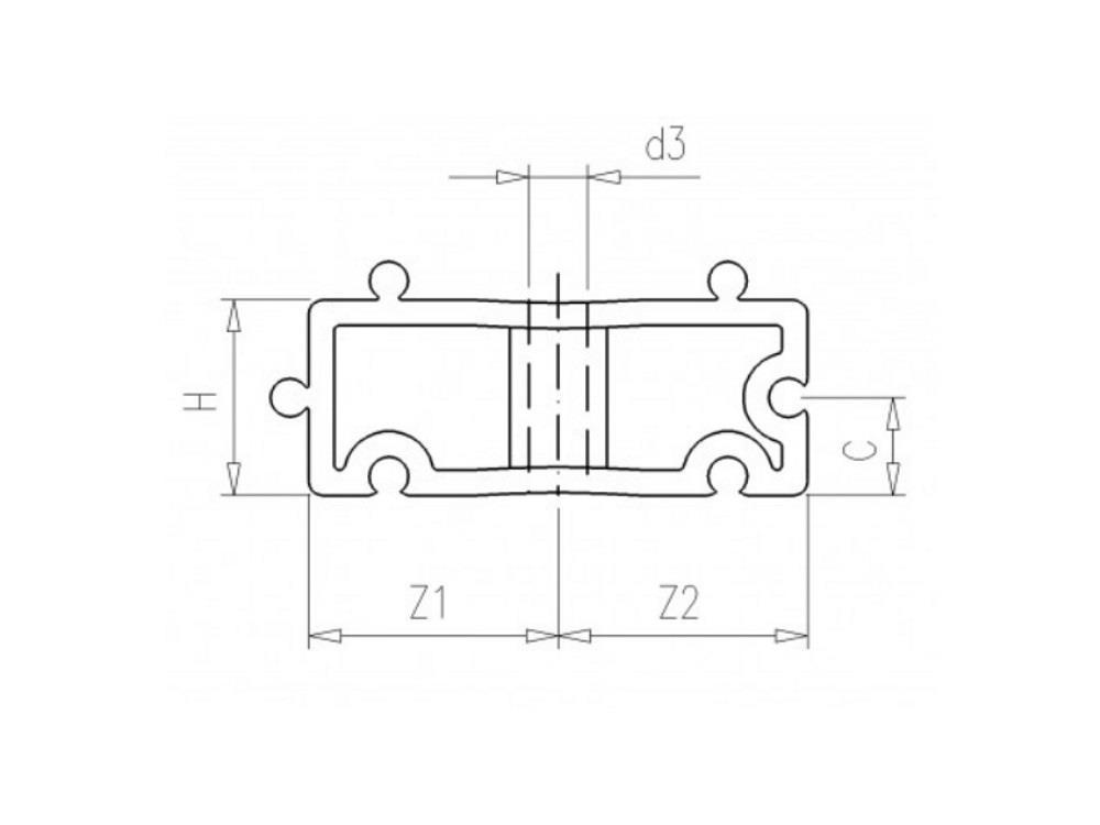 Vulblokje 32 (buisklem met clip) pp