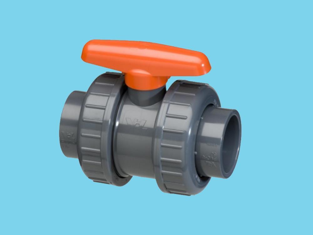 Kogelkraan type: dil 40x40mm dn32 pvc