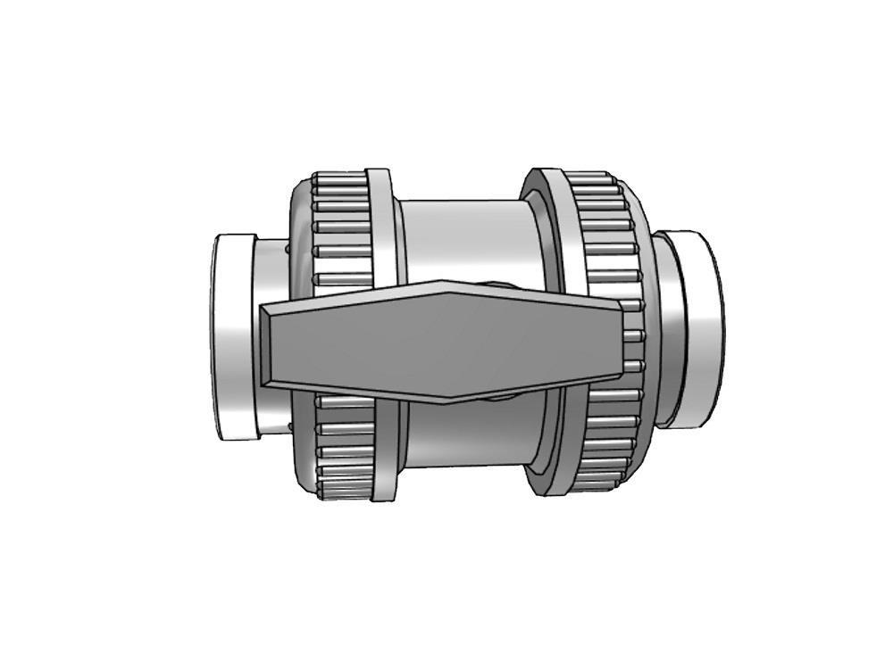 Kogelkraan type: dil 40x40mm viton® dn32 pvc