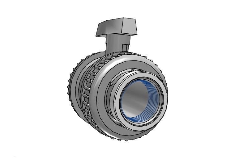 Kogelkraan type: dil 75 x 75mm viton® dn65 pvc