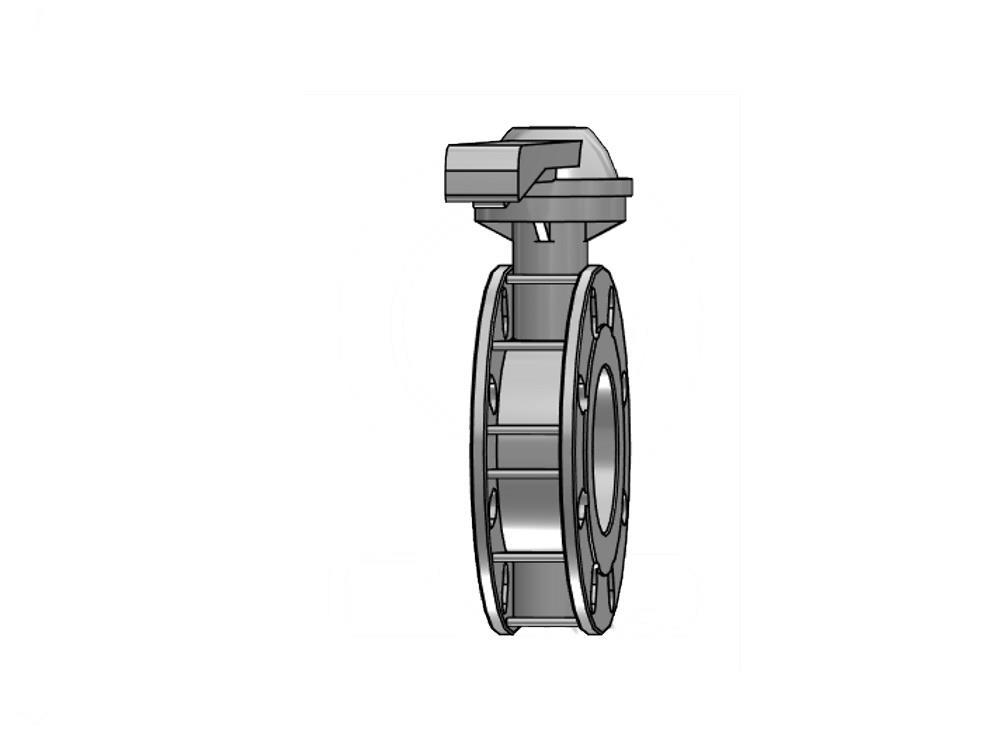 Vlinderklep 110mm / dn 100