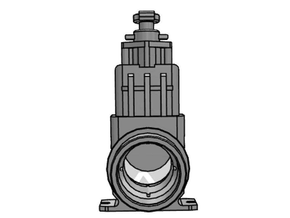 Schuifafsluiter dil 110 (rvs) verloop 1.000 mm