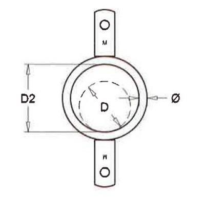 Ring dubbel lip voor buis 76mm, 25 stuks