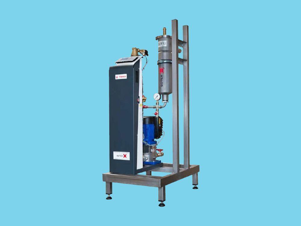 Sotex CleanoVent 300 vacuumontgasser inclusief deelstroomfil