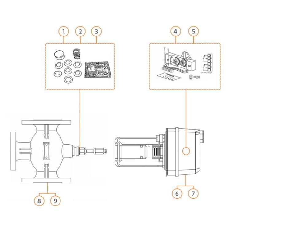 Honeywell servomotor ML6421B3004 voor klep 100 t/m 150 mm