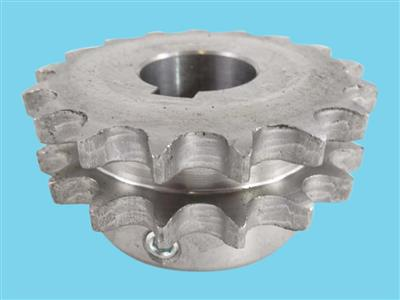 "Duplextandwiel 1/2"" 17T as 25mm (tbv hydromotor)"