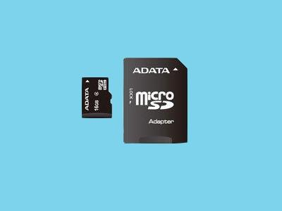 Micro SDHC-Card, Class 4 + SD adapt 32 GB