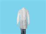 Allwear bezoekersjas PP klittenband wit XL 100st