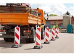 Veiligheidspilaar voetafmeting: 40 x 40 mm pijlvormig