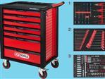 RACINGline ZWART/ROOD gereedschapswagen met 7 laden en 215 p