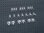 Gereedschapshouder voor perforatieplaat, 22-delige set